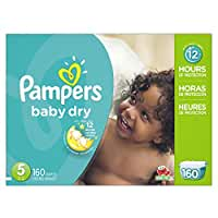 Pampers\x20Baby\x20Dry\x20Diapers\x20Size\x205,\x20160\x20Count