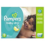 Image of Pampers Baby Dry Diapers Size 5, 160 Count