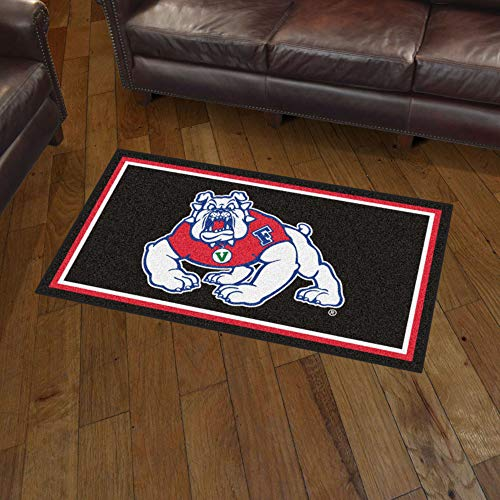 NCAA Fresno State Bulldogs 3 Ft. x 5 Ft. Area RUG3 Ft. x 5 Ft. Area Rug, Black, 3' x 5'