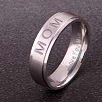 jindarat shop LOVE YOU MOM Carving Ring Mothers Day Gift Stainless Steel Jewelry (7)