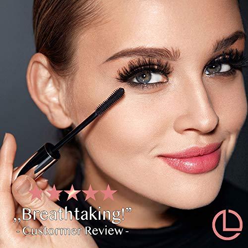 Mascara Black Waterproof Volume Make-up Voluminous Makeup For Sensitive Eyes 3D Fiber Lengthening Eyelashes Get Lashes Long Big and Thick Silk Lash Extension Clump Free Gift Mom Women On Sale