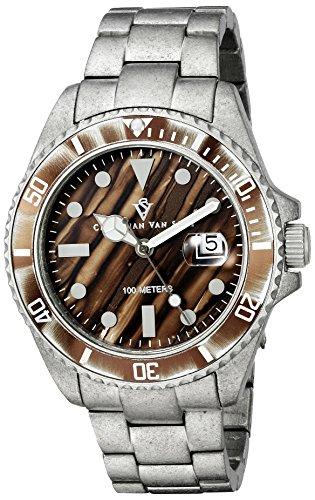 Christian Van Sant Men's CV5101 Montego Analog Display Quartz Silver Watch