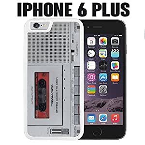 iPhone Case Journalist Tape Recorder for iPhone 6 PLUS Plastic White (Ships from CA)