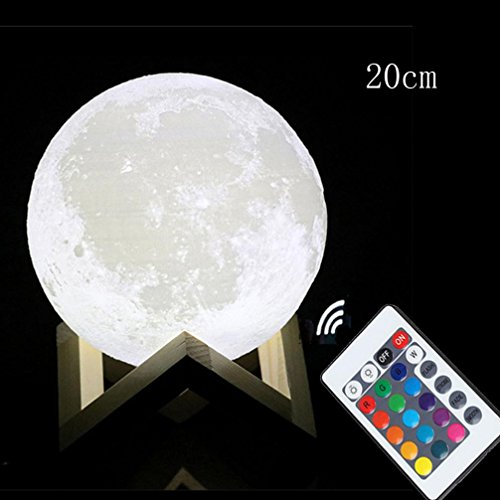 Inverlee 3D USB Hand Shot Lights Moon Night Light Moonlight Table Desk Moon Lamp Gift Home Decorations (Multicolor, 20CM) by Inverlee