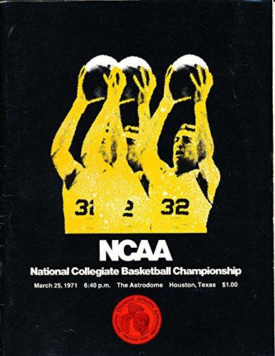 March 25 1971 NCAA basketball championship program unscored nba10