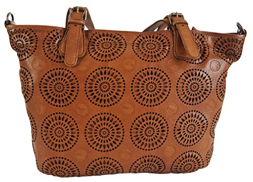 4303380 Tan Handbag Bag Gianni Italian Leather Tote Conti Shopper Fine qAFw6z