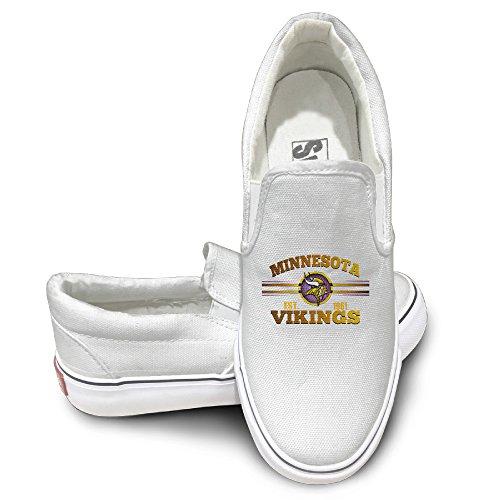 [Amone Minnesota Viking Athletic Unisex Flat Canvas Shoes Sneaker White 41] (Stefon Costume)