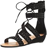 Carlos by Carlos Santana Women's Kamilla Flat Sandal, Black, 11 Medium US