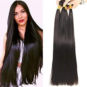 NEWNESS Peruvian Straight Long Hair Bundles 10A 100% Unprocessed Virgin Human Hair Weave Extensions Peruvian Straight…