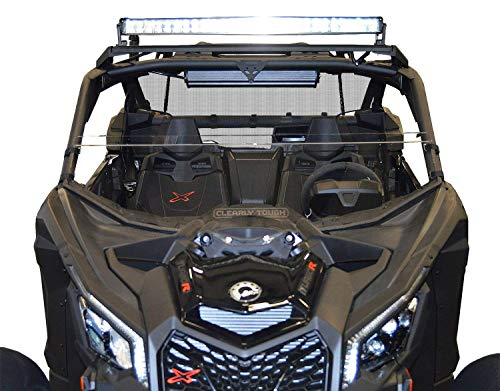 Can Am Maverick X3 Windshield - Half -SCRATCH RESISTANT- The Ultimate in Side By Side Versatility! Easy On or Off!Premium polycarbonate w/Hard CoatMade in America!
