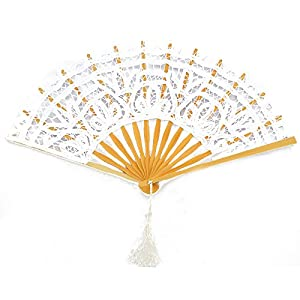 Victorian Wigs, Hand Fan, Purse, Gloves Accessories Victorian style Romantic Lace Wooden Folding Fan (White) $8.99 AT vintagedancer.com