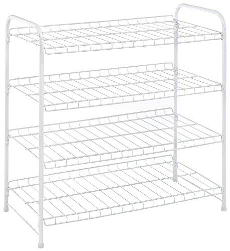 whitmor 4 tier white wire closet shelves 689851181870