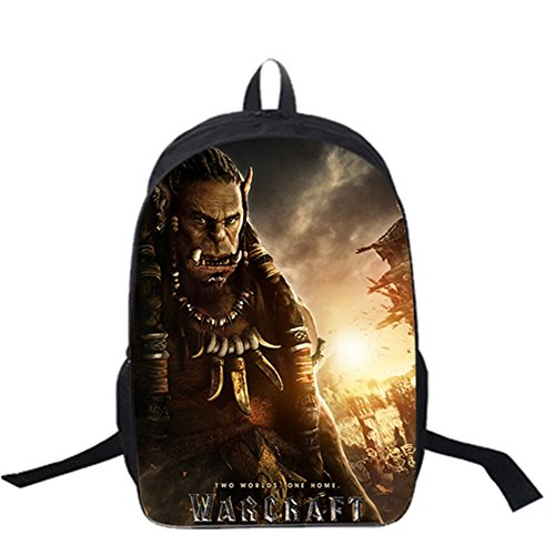 YOURNELO Boy's World of Warcraft WOW Backpack Schoolbag Bookbag