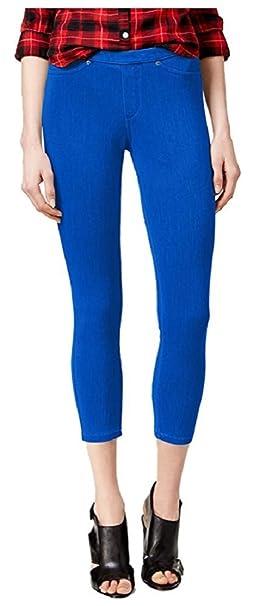 de0e9bfc3ce15 Hue Women's Original Denim Capri Leggings X-Small Sapphire Blue at ...
