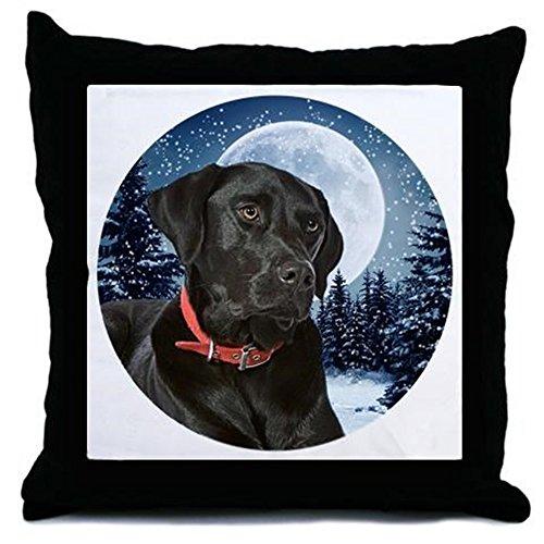 CafePress - Black Lab Throw Pillow - Throw Pillow, Decorative (Black Lab Throw)