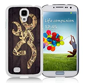 Excellent protection Camo Browning Logo White Cover Case For Samsung Galaxy S4