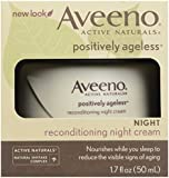 Aveeno, Facial Moisturizers Positively Ageless Reconditioning Night Cream, 1.7 fl oz