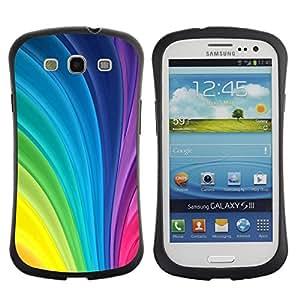 Suave TPU GEL Carcasa Funda Silicona Blando Estuche Caso de protección (para) Samsung Galaxy S3 I9300 / CECELL Phone case / / Curves Pattern Stripes Vibrant Gay /