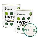 Smartbuy 200-disc 4.7gb/120min 16x DVD-R Logo Top Blank Data Recordable Media Disc
