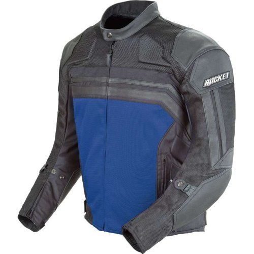 Blue Leather Motorcycle Jacket - 6