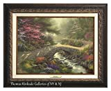Thomas Kinkade Bridge of Faith 12'' X 16'' Canvas Classic (Aged Bronze)
