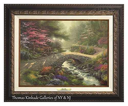 Thomas Kinkade Bridge of Faith 12'' X 16'' Canvas Classic (Aged Bronze) by Thomas Kinkade