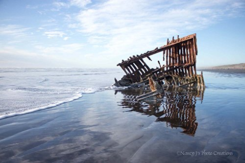 Shipwreck Art Unframed Nautical Decor Beach Picture Coastal Sailing Boat Photo Boy's Room Gift for Him Man Cave Wall Print Travel Photography 5x7 8x10 8x12 11x14 12x18 16x20 16x24 20x30 - To For Your Find How Frames Face Right The