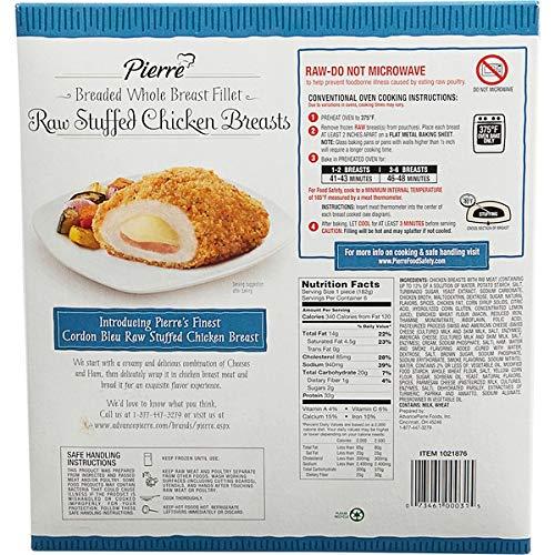 Advance Pierre Expect More Chicken Cordon Bleu Raw Amazon