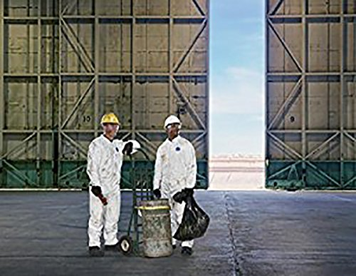 DuPont Tyvek 400 TY125S Disposable Protective Coverall with Elastic Cuffs, White, X-Large (Pack of 25) by DuPont (Image #6)