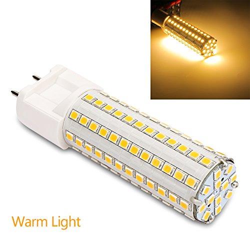 eSaveBulb LED Corn Bulb 12 Watt G12 Led Bulb 3000K Warm White Led Light Fixture AC 85-265V 81pcs Leds 2835SMD (Warm White Leds G12)
