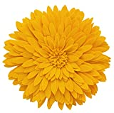 Elegant 3D Sunflower Throw Pillow - Round 13 x 13 Decorative Throw Pillow - Yellow Sunflower Pillow For Couch, Bedroom And Living Room Decor - Gold Sunflower Decorative Pillows With Case And Insert