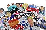 Greys Anatomy Sticker Pack 50 PCs tv Show Creative DIY Stickers Funny Decorative Cartoon for Cartoon PC Luggage Computer Notebook Phone Home Wall Garden Window Snowboard