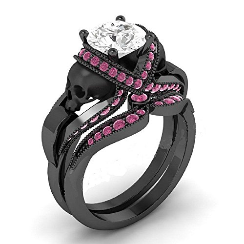 pink and black diamond ring - 3