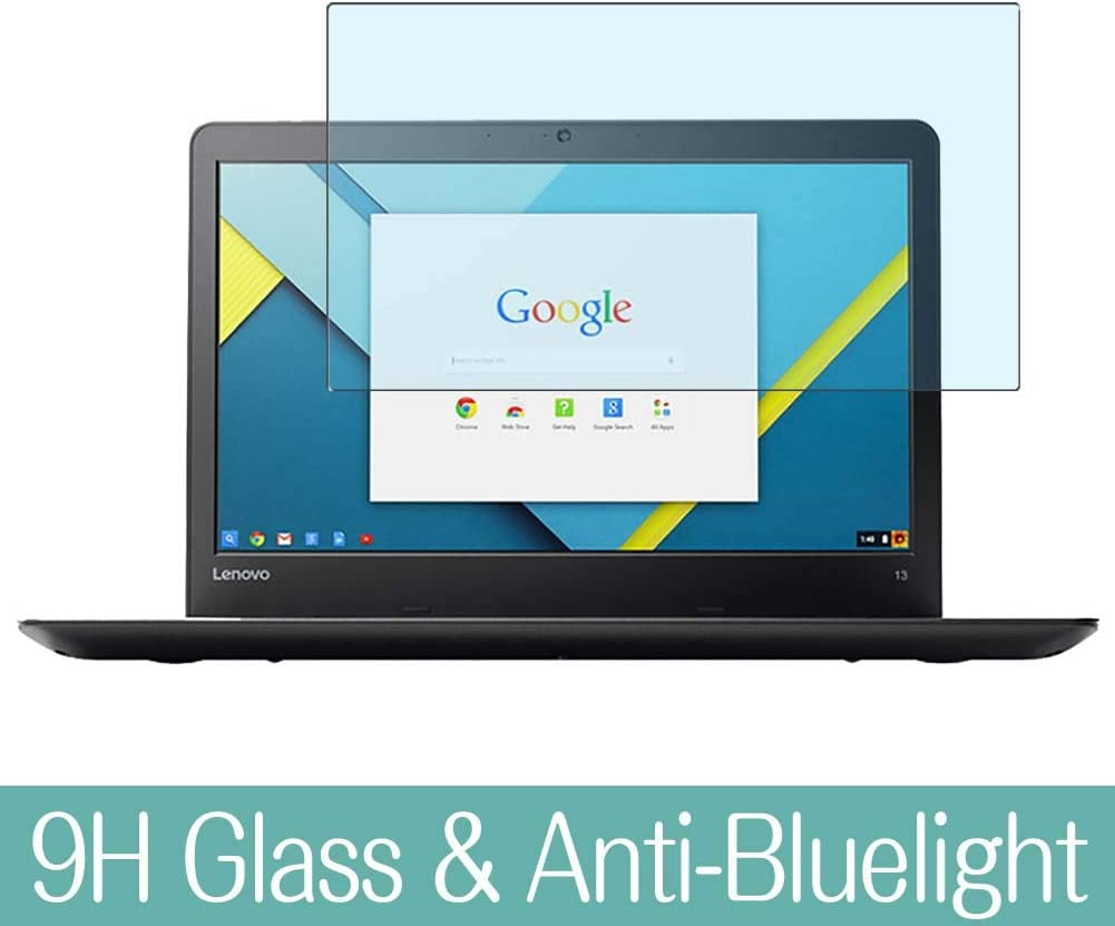 """Synvy Anti Blue Light Tempered Glass Screen Protector for Lenovo Thinkpad 13 Chromebook 13.3"""" Visible Area 9H Protective Screen Film Protectors"""
