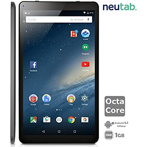 NeuTab 10.1 Inch Octa Core Android 5.1 Lollipop Tablet PC, 1GB RAM 16GB ROM, Bluetooth 4.0 Dual Camera Mini HDMI Coupons