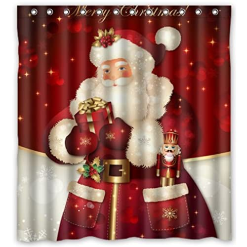unique custom merry christmas dreamlike the santa claus waterproof fabric polyester shower curtain 66x72 bathroom decor - Christmas Bathroom Decor Amazon