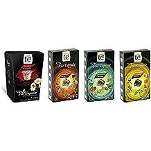 40 Nespresso Compatible Tea Pods - Tea Variety Pack: Chamomile (Manzanilla), Forest Fruit Tea, Black Citrus Tea, and Mediterrean Green Tea (1 box each / 10 pods per box)