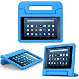 MoKo Case for Fire HD 8 2016 Tablet - Kids Shock Proof Convertible Handle Light Weight Protective Stand Cover for Fire HD 8 (Previous 6th Gen - 2016 Release ONLY), BLUE (NOT FIT 7th Gen 2017 Tablet)