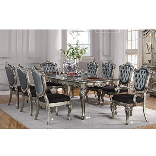 Acme Furniture 60540 Chantelle Dining Table, Antique -