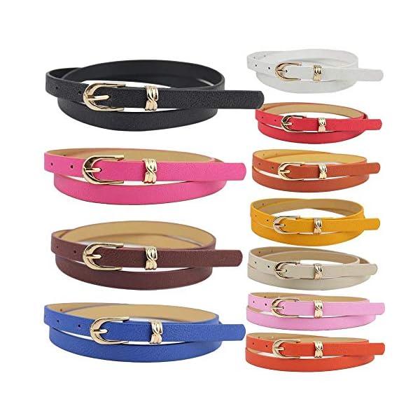 Firally Hot sale Cintura,Cintura da Donna con Cinturino Alla Bocca Accessori di Abbigliamento Modo Dimensioni Regolabili… 2 spesavip