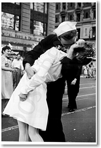 Kissing the War Goodbye - NEW Vintage WW2 Poster (Kiss Wars End)