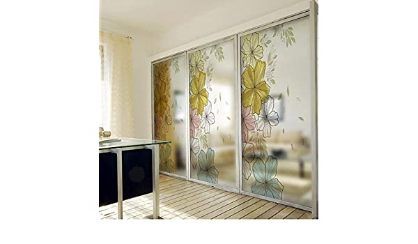 TTbaoz Pvc Window Film Frosted Opaque Privacy Glass Sticker Flor Decoración para el hogar Impresión digital Hermosas flores: Amazon.es: Bebé