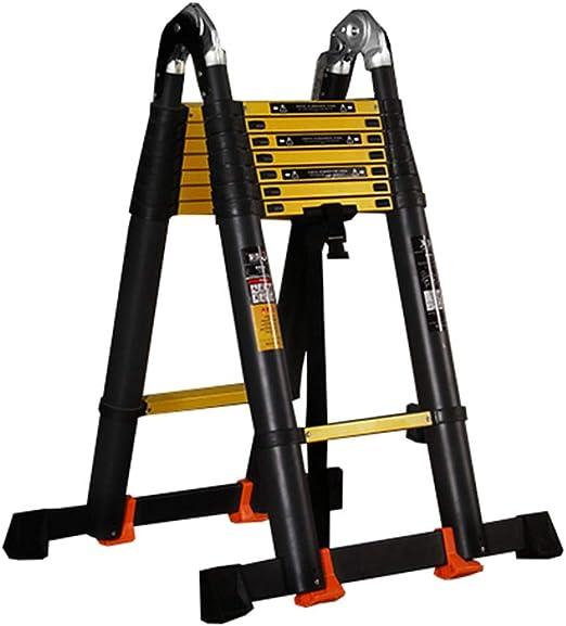 LJSJT Escalera Plegable de Aluminio Escalera de extensión Profesional Resistente 2.9 + 2.9m Escalera Multiusos de ingeniería Teniendo Fuerte con polea: Amazon.es: Hogar
