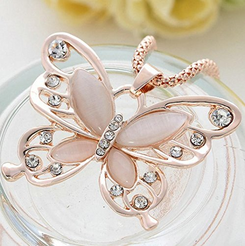 Tuscom Fashion Butterfly Pendant Necklace