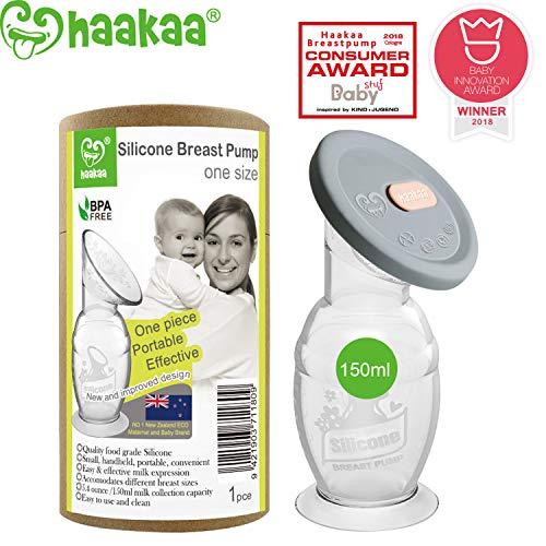 Haakaa Manual Breast Pump with Base 5oz/150ml+Lid
