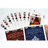 Canasta Clásico Playing Card Double Deck Set - Deluxe Edition 3.1 - Includes 2 Single Deck of Cards, One Red and One Blue