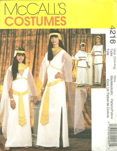 Misses/Girls Cleopatra And Greek Costumes McCall's Sewing Pattern 4216 (Size Misses: 8-22)