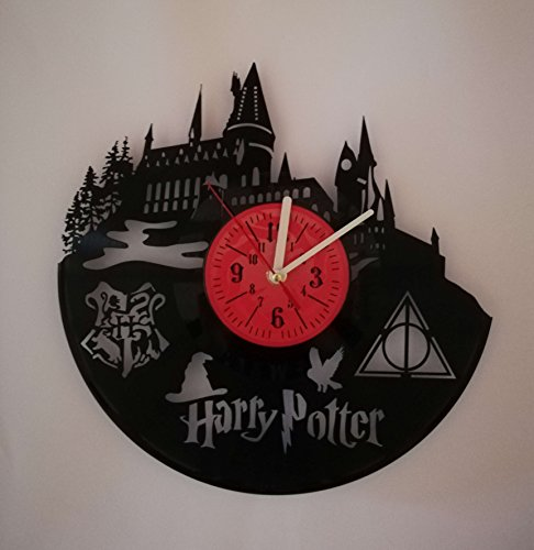 HARRY POTTER Handmade Vinyl Record Wall Clock - Get unique home room wall decor - Gift ideas for parents, teens – Epic Movie Unique Modern Art … by Geeks Stuff