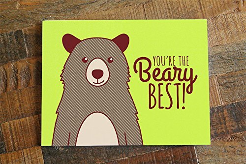 You're the Beary Best – Friendship, , Birthday or Thank You Card
