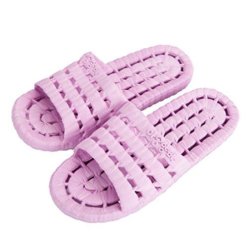 YUHUAWYH Unisex Zapatillas de Baño Unisex Zapatillas de Piso de Interior Sandalias de Playa de Verano Antideslizante (38/39, rosa)